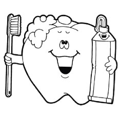 Free Tooth Coloring Pages ClipArt Best