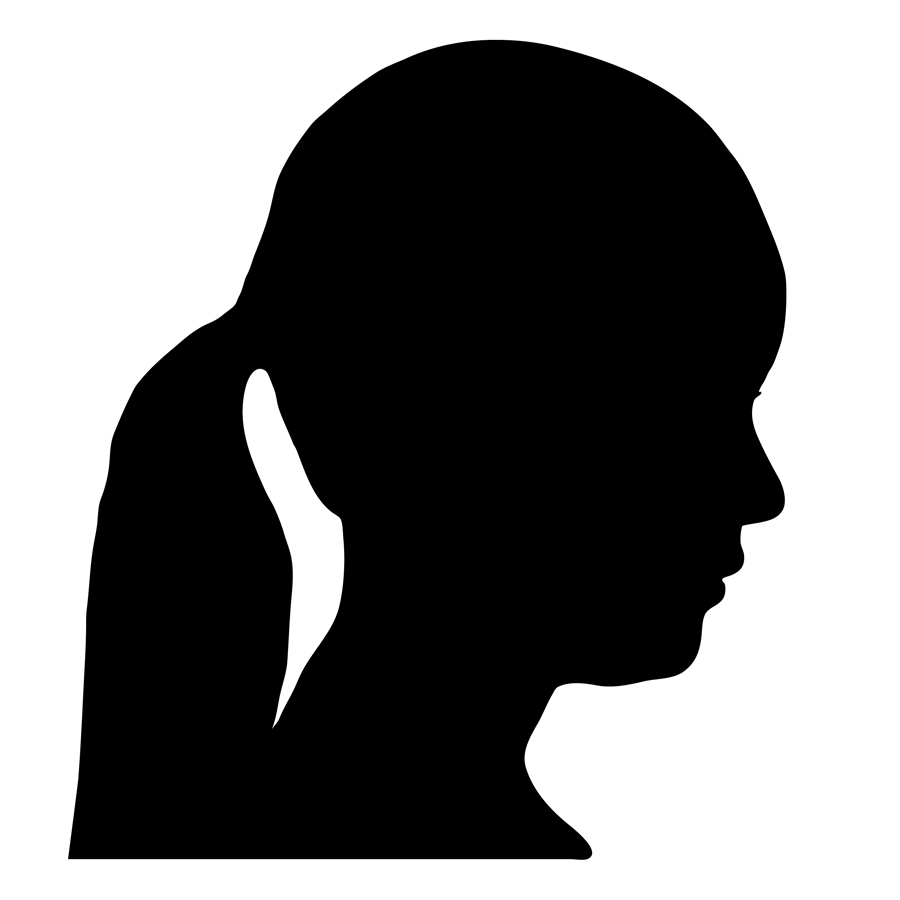Woman Side Silhouette - ClipArt Best