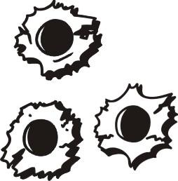 Bullet Hole Fonts - ClipArt Best