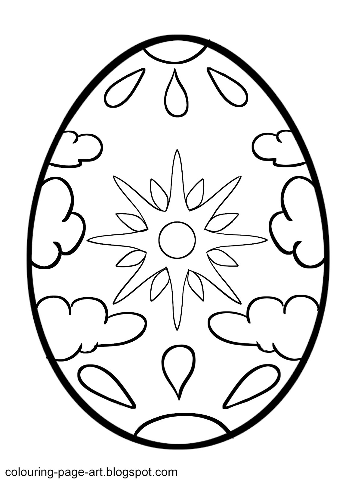 Easter Egg Templates Clipart Best