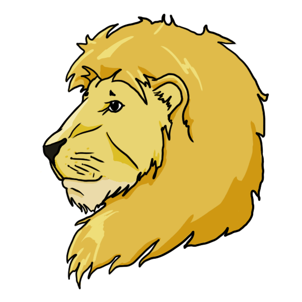 Lion Head Drawing For Kids