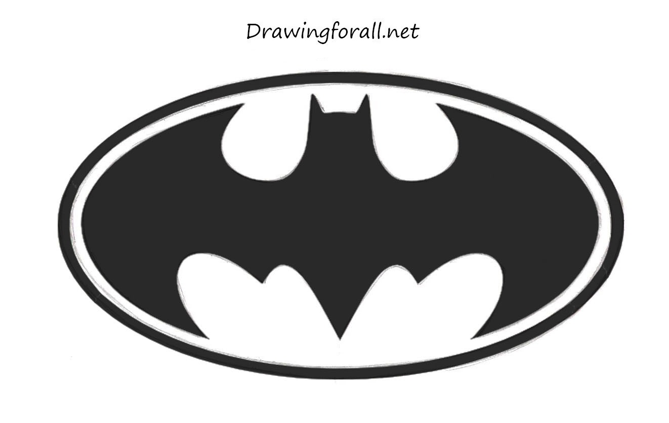 How To Draw Batman's Logo | DrawingForAll.net