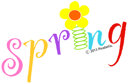 Spring Word Art - ClipArt Best