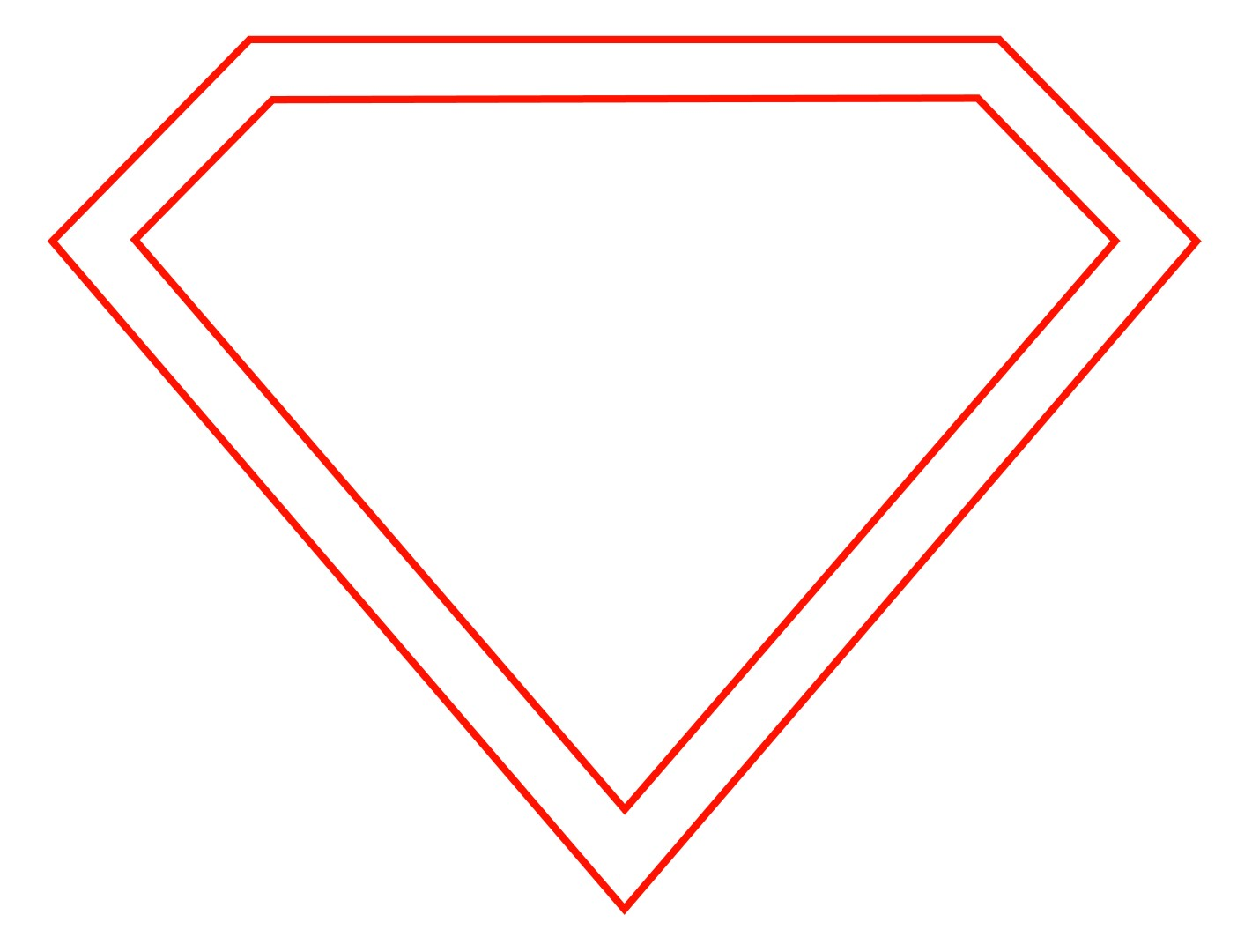 Superman Symbol Outline - ClipArt Best