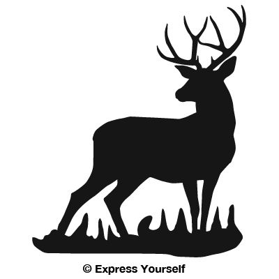 Buck Deer Silhouette - OnlineLabels Clip Art