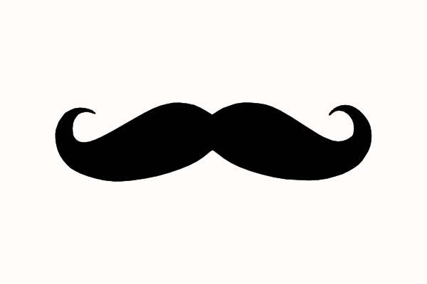 French mustache clipart
