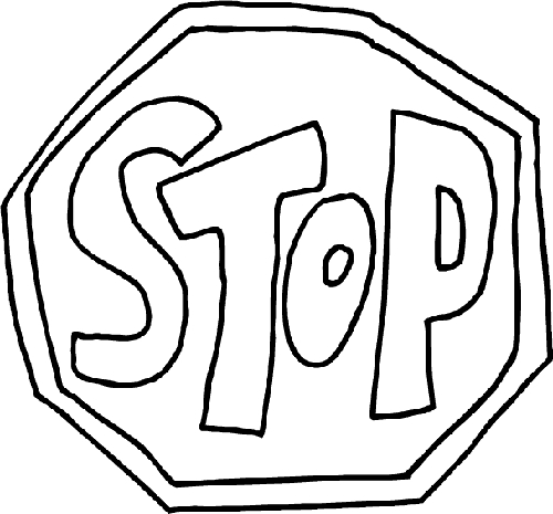stop sign coloring page printable pages