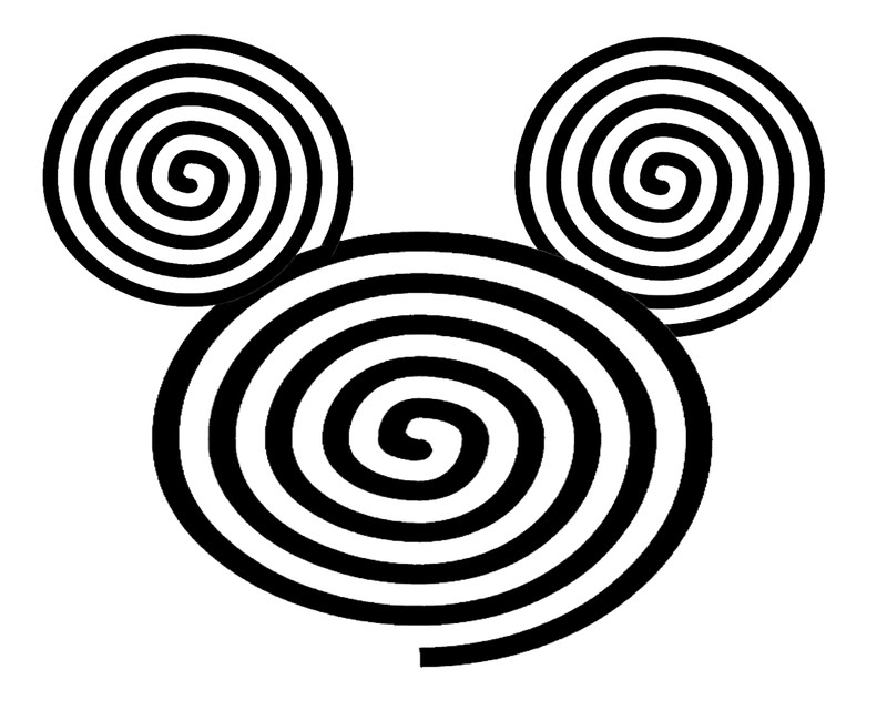 Printable Disney Spiral Mickey Mouse Ears Picture