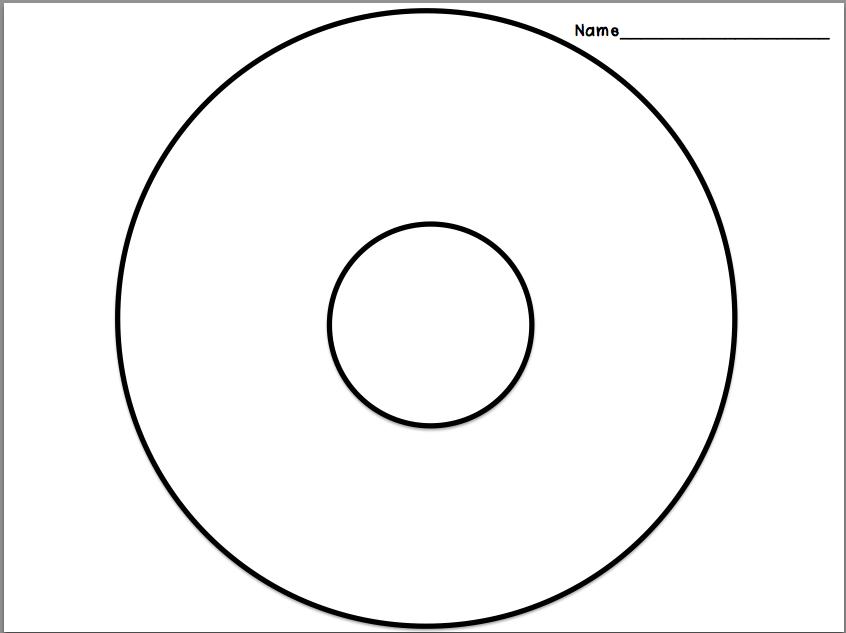 Zany image with circle map printable