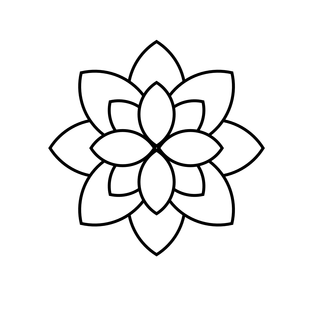 Lotus Flower Outlines ClipArt Best