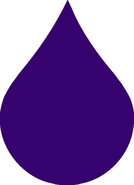 Purple Rain Drop clip art - vector clip art online, royalty free ...