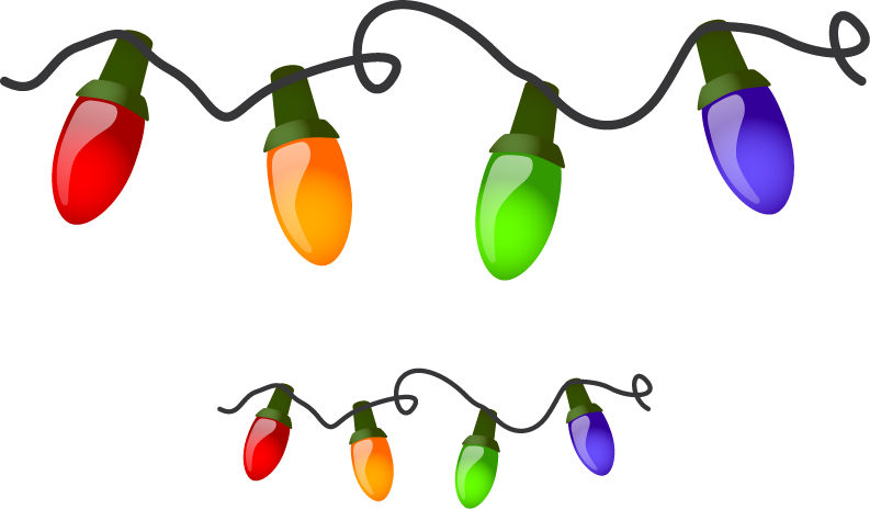 Christmas tree lights clip art clipart best