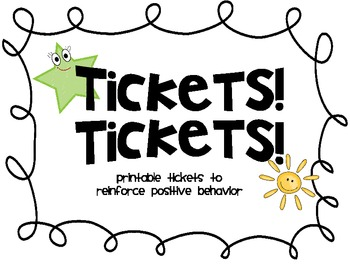 TICKETS! TICKETS! PRINTABLE RAFFLES AND TICKETS FOR POSITIVE ...
