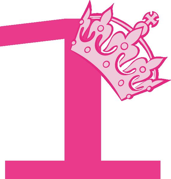 1st Birthday Logo 1st Birthday Pink Tiara Clip