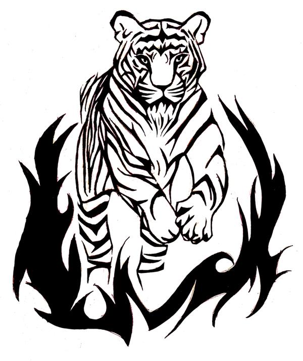 Tribal Tiger By Ruttan On Deviantart: DeviantART: More Like Tribal Tiger Tattoo By