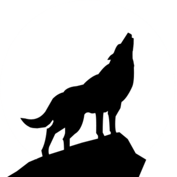 howling wolf designs clipart best