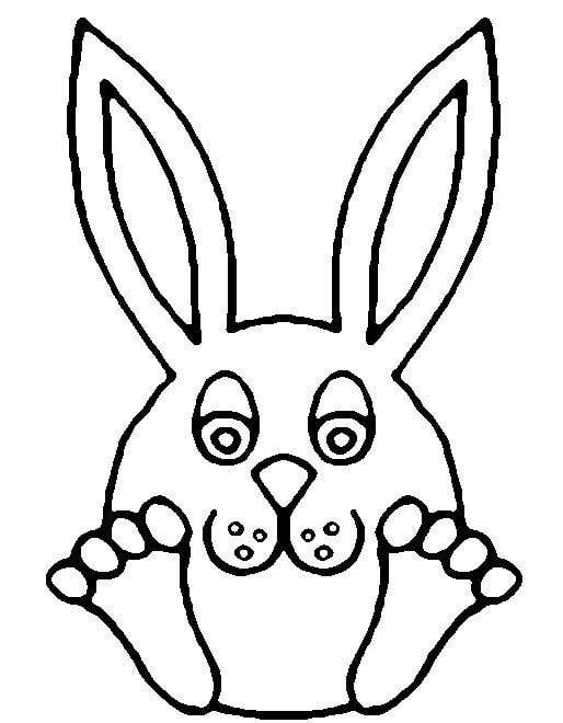 Cute Easter Bunny Template Easter Bunny Template or