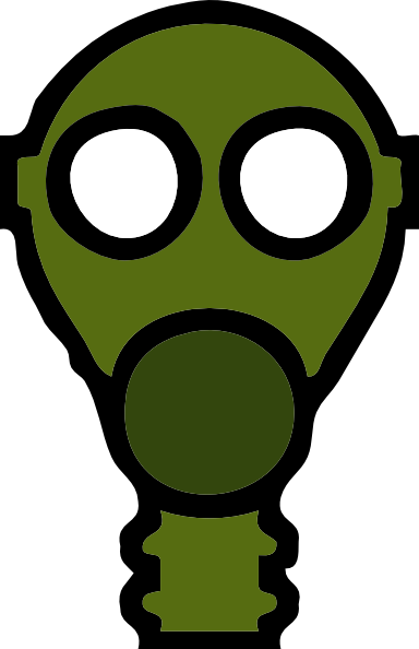 Gas Mask clip art - vector clip art online, royalty free & public ...