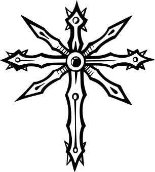 Tribal Cross. Free vector clipart sample for vehicle ... Нарды Размеры