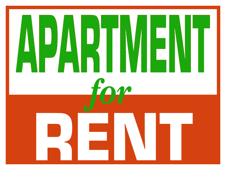 Make free for rent signs clipart best for Apartment lease maker