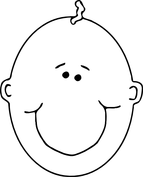 Boy Face Pic Outline - ClipArt Best