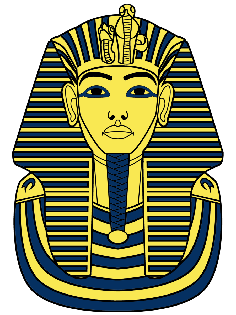 How to draw king tut clipart best for King tut mask template