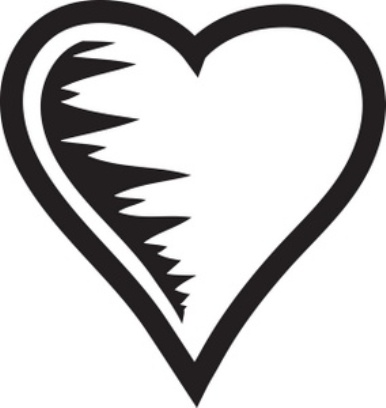 black heart clip art | in design art and craft