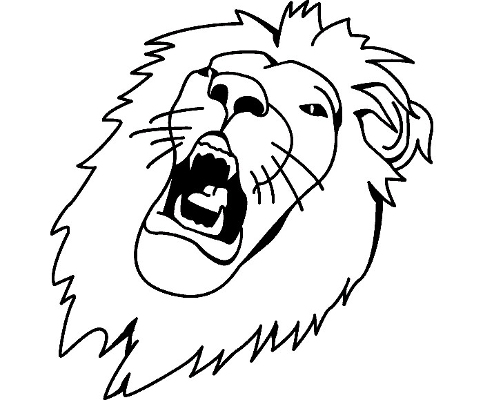 tiger outline template clipart best