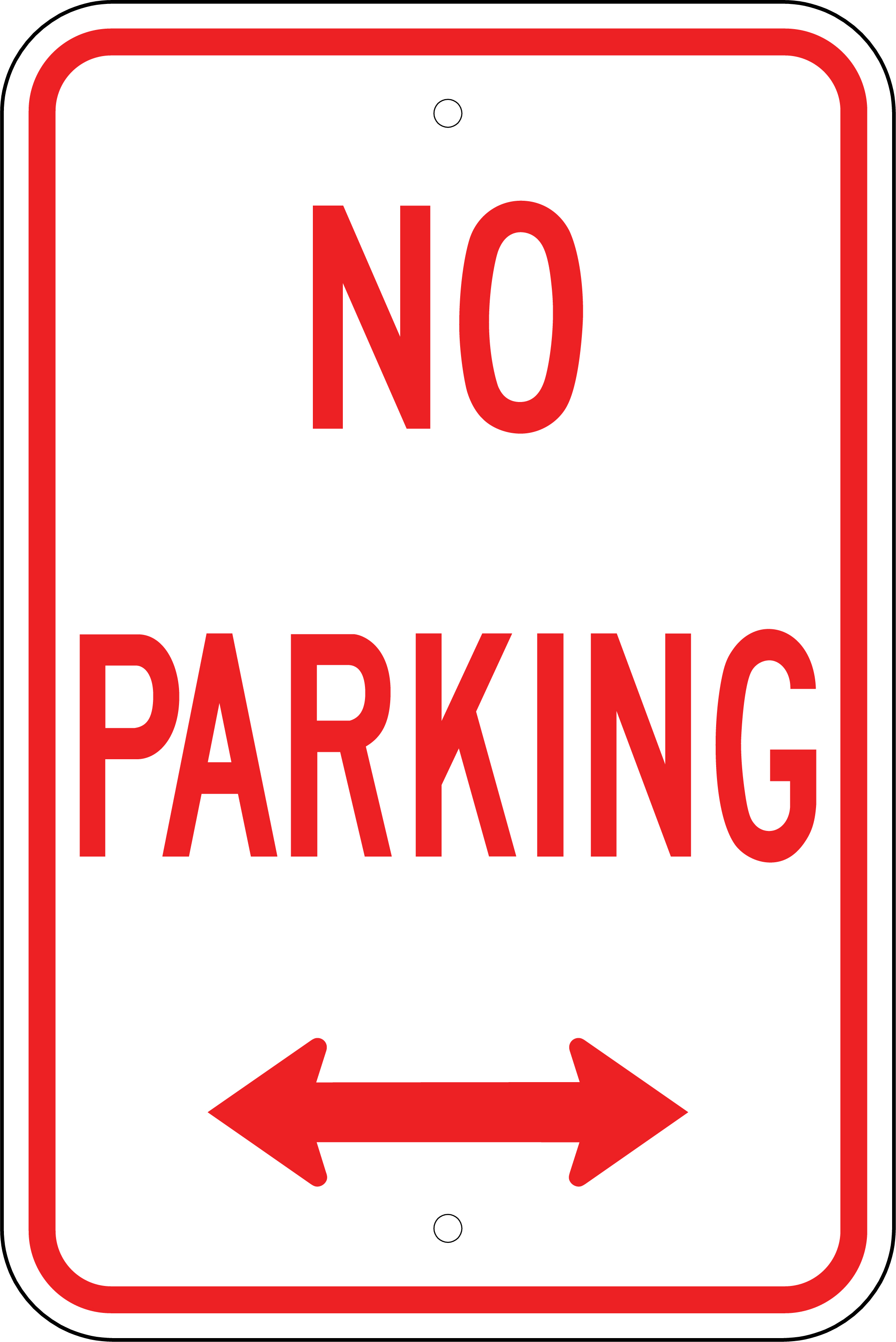 Légend image for printable no parking sign