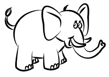 5 Trace The Lines How To Draw An Elephant Clipart - Free to use ...