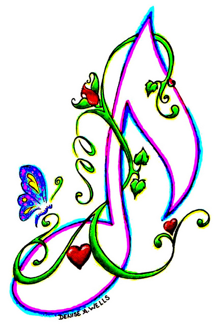 Colorful Musical Notes + Stencil - ClipArt Best