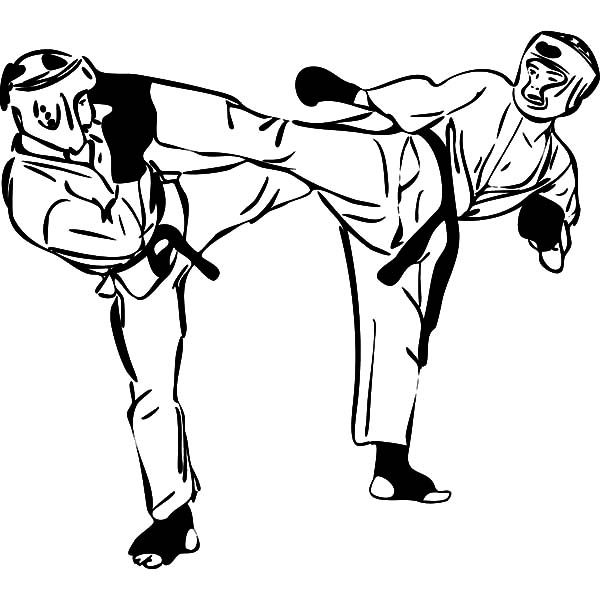 Karate Fighters Drawings ClipArt Best