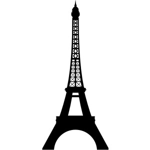 Eiffel tower black clipart best for Eiffel tower mural black and white