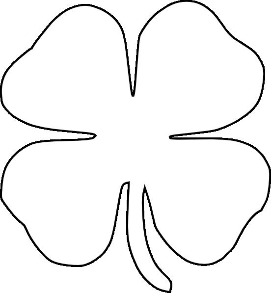 Four Leaf Clover Vector clip art - vector clip art online, royalty ...