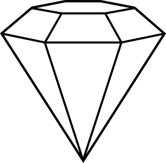 Diamond Drawing on Simple Shapes Coloring Pages
