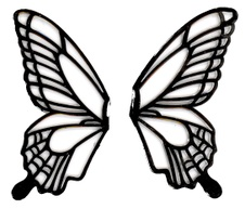 Butterfly Wings Template For Cakes - ClipArt Best