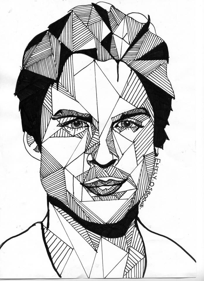 Line Drawing Artists Examples : Portrait line drawing clipart best