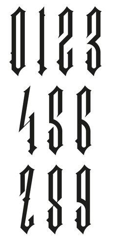 Old English Numbers - ClipArt BestOld English Numbers
