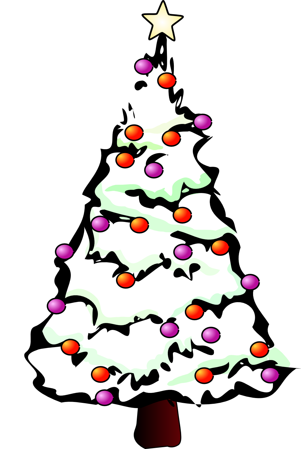 Line Drawing Xmas Tree : Christmas tree line drawing clipart best