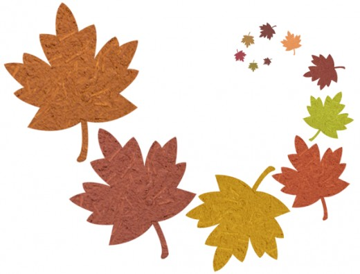 Leaves falling clipart