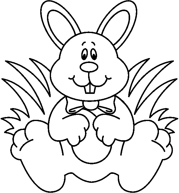 Easter Bunny Black And White - ClipArt Best