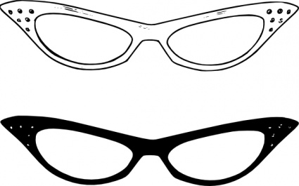Glasses Clipart Black And White - Free Clipart Images