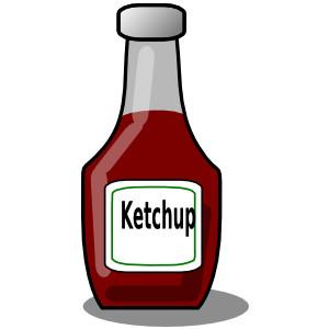 Ketchup Bottle clip art - vector clip art online, royalty ...