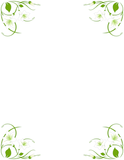 Easter lily border clipart free