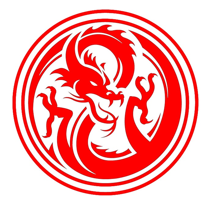 Red Dragon Logo inside a circle. | My Style | Pinterest