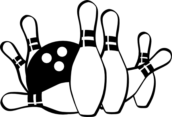 Retro bowling pin clipart