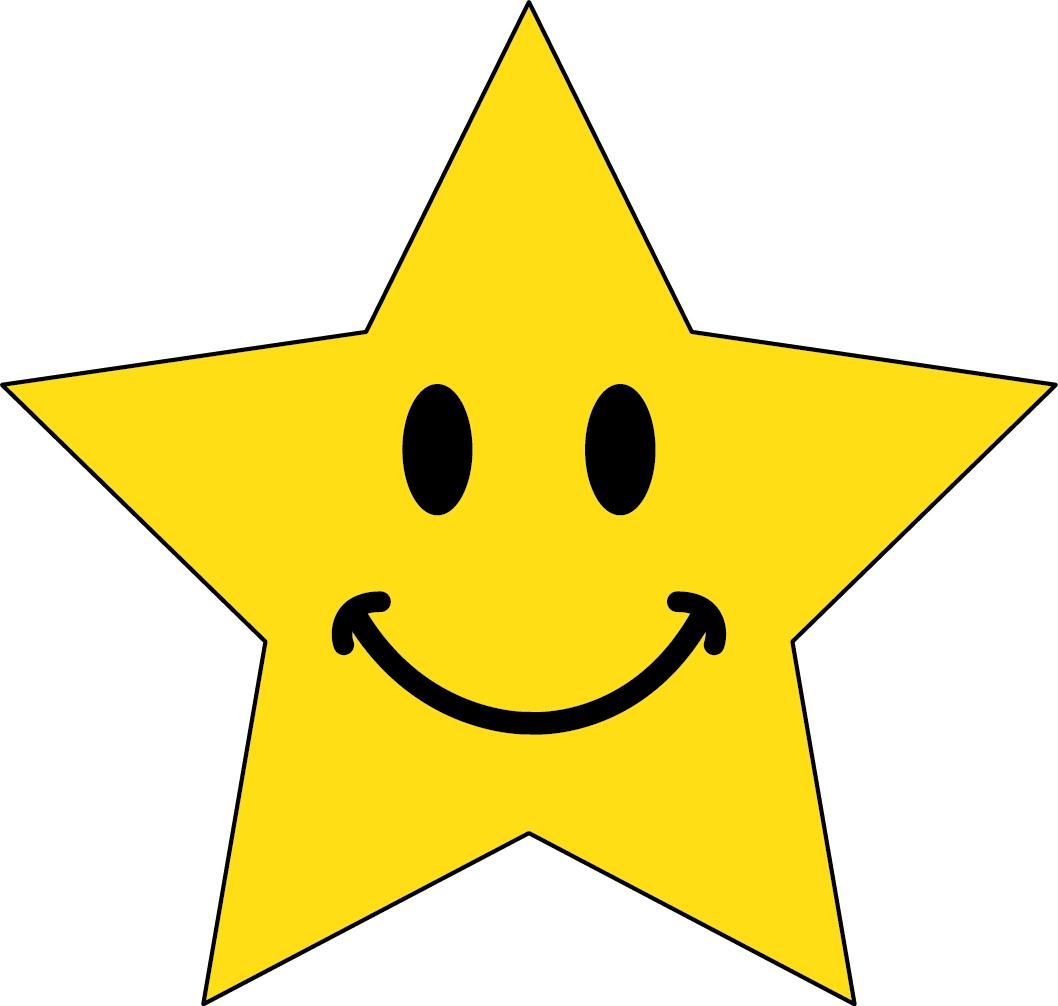 Star Faces Clip Art Happy Face Star Clip Art