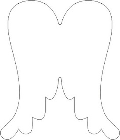 angel wing cut out template - photo #35