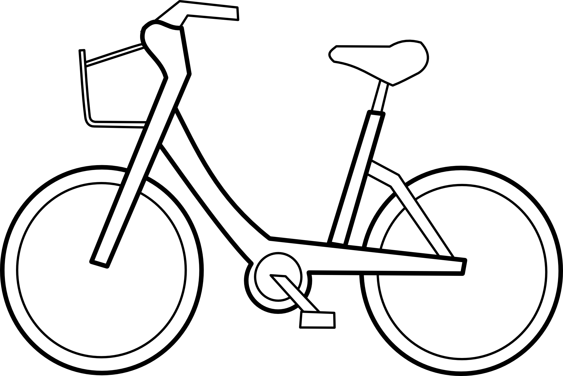 Line Drawing Bicycle : Clipart bicycle best