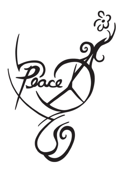 peace sign drawings clipart best